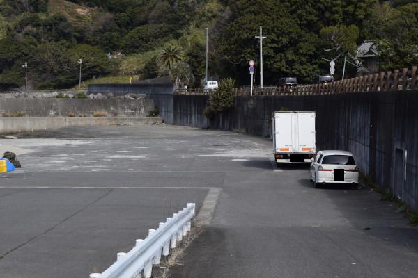 田村漁港の駐車スペース