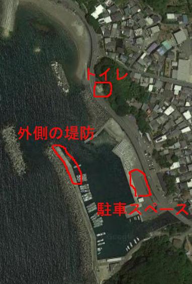 田村漁港航空写真