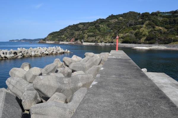 田村漁港堤防先端