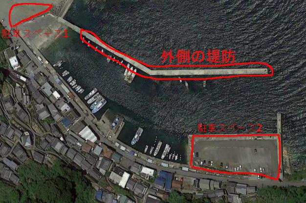 戸坂漁港の航空写真