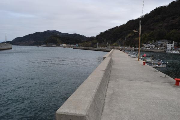 戸坂漁港の釣りポイント