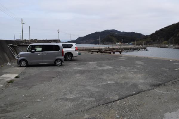 戸坂漁港駐車スペースの写真