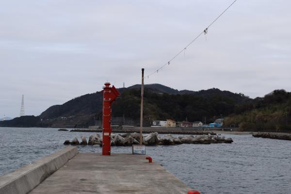 戸坂漁港の先端の写真