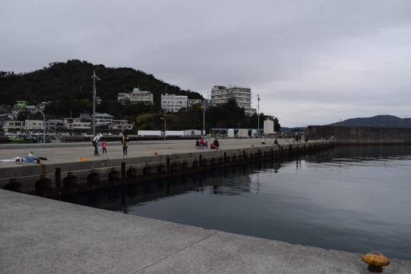田ノ浦漁港内側の堤防