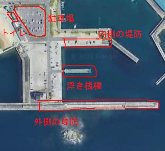 田ノ浦漁港の航空写真